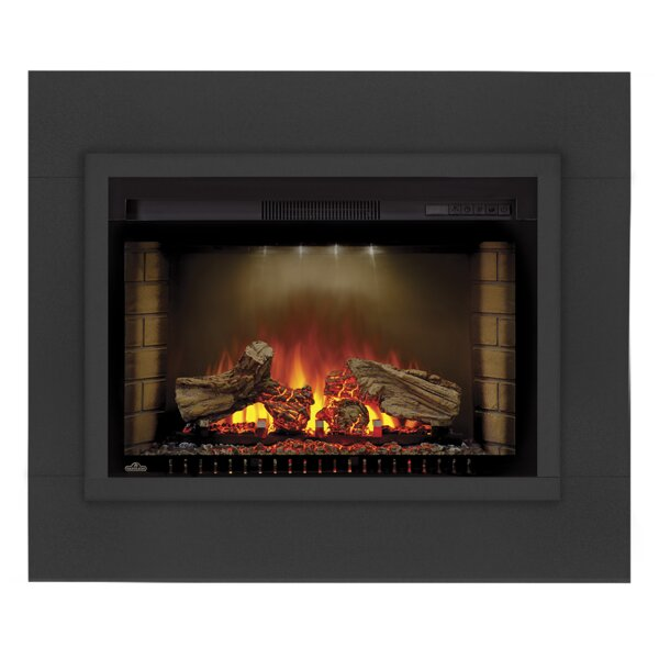 Cinema™ Series Log Set Built In Wall Mount Electric Fireplace Insert by Napoleon