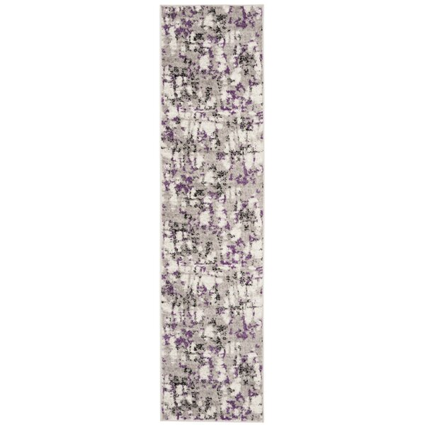 Cohen Ivory/Purple Area Rug by Wrought Studio