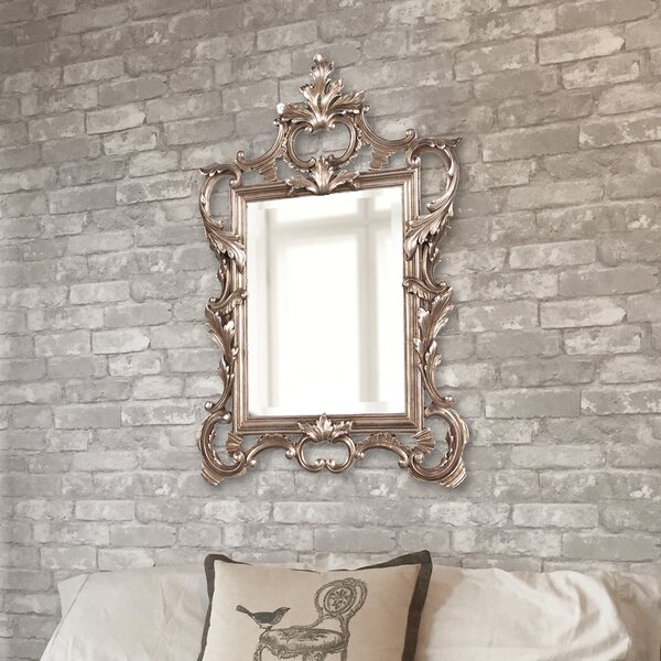 Heger Scroll Accent Mirror by Astoria Grand