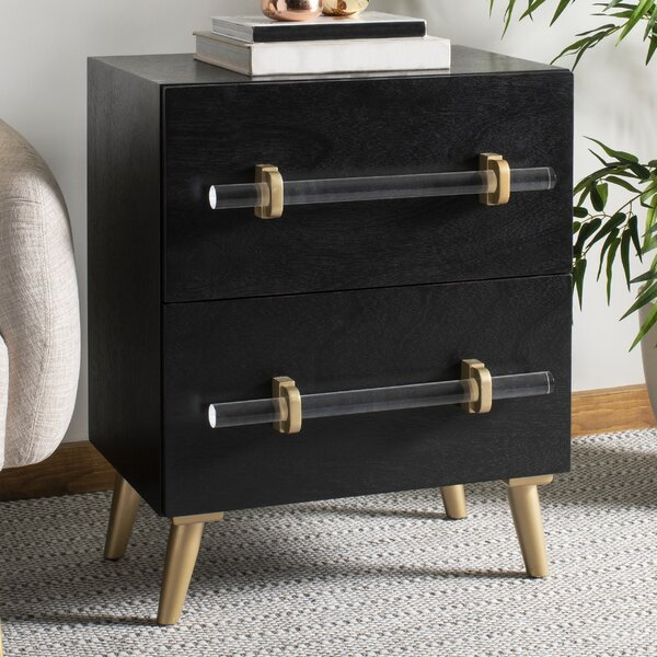 Morecambe 2 Drawer Nightstand by Everly Quinn Everly Quinn
