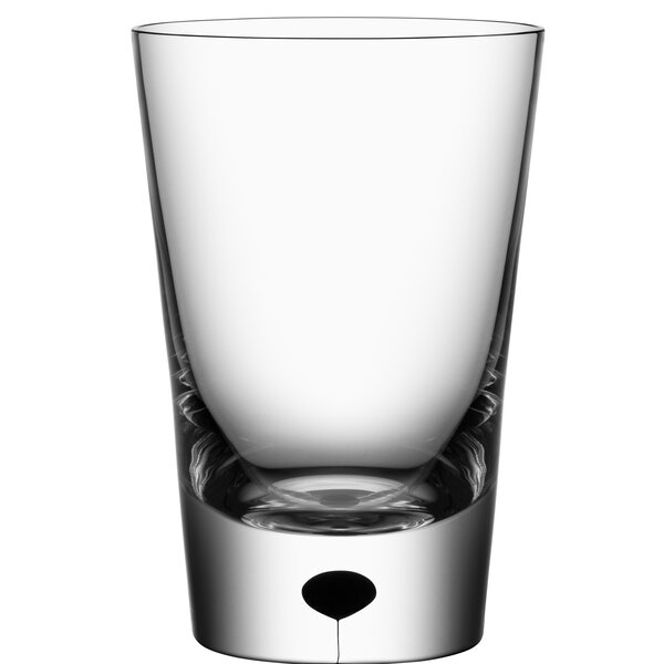 Metropol Tumbler 8 oz. Crystal Every Day Glass (Set of 2) by Orrefors