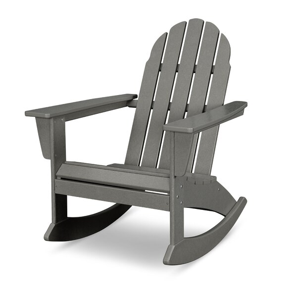 Vineyard Plastic Rocking Adirondack Chair By POLYWOOD®