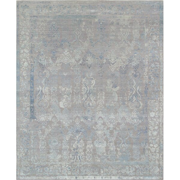 Hand-Knotted Gray Area Rug by Pasargad