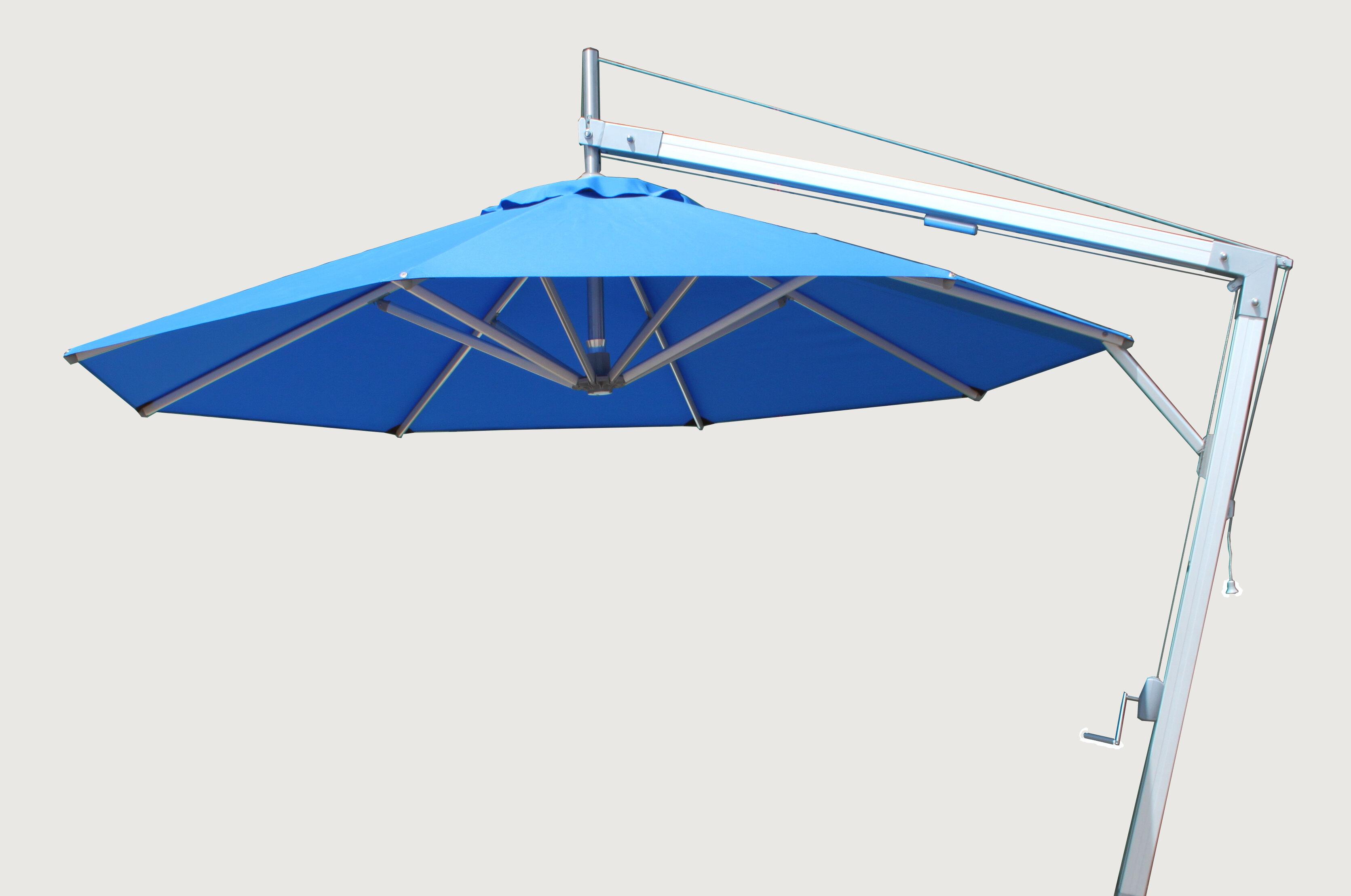 Bambrella Side Wind 10 5 Cantilever Umbrella Wayfair