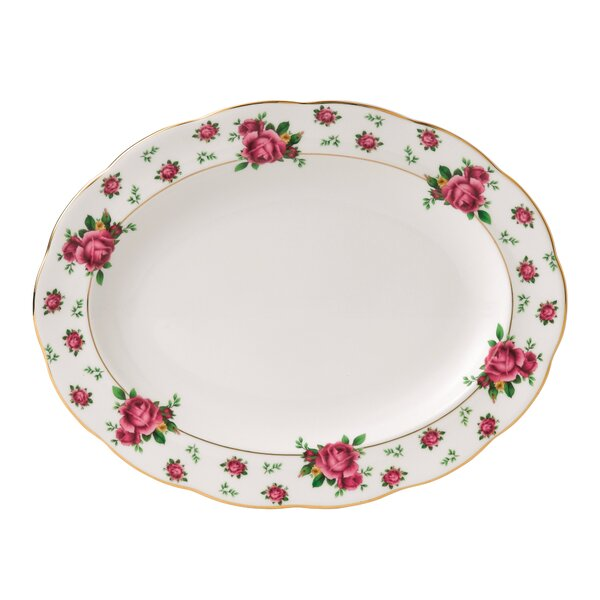 New Country Roses Formal Vintage Oval Platter by Royal Albert