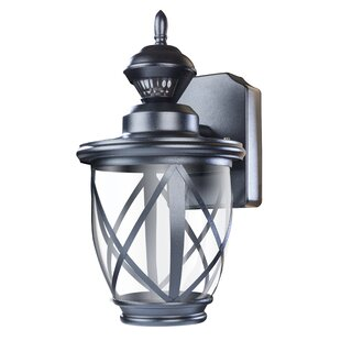 Outdoor motion activated light wayfair kansas 150 motion activated decorative 1 light outdoor wall lantern aloadofball