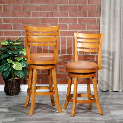 Faux Leather Full Back Counter Height Bar Stools You Ll