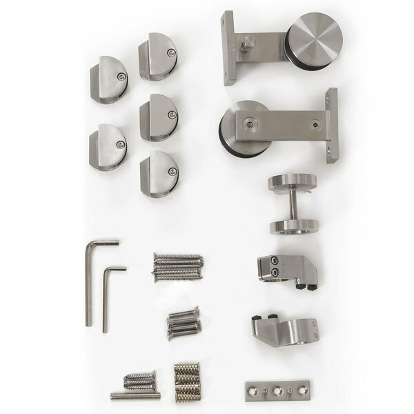 Single T-shape Sliding Barn Door Hardware by Vancleef