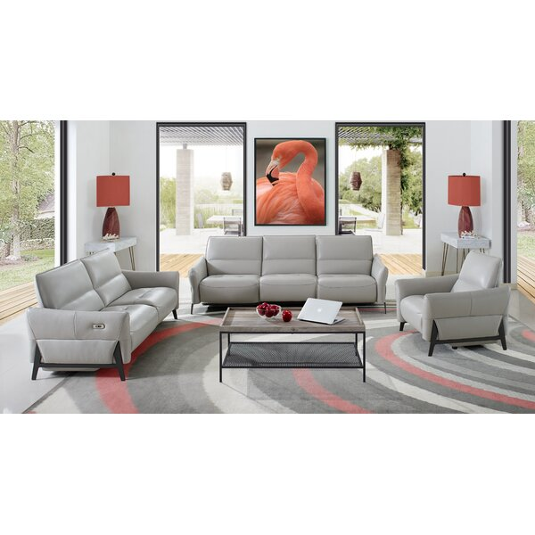 Branchdale 3 Piece Leather Reclining Living Room Set by Orren Ellis