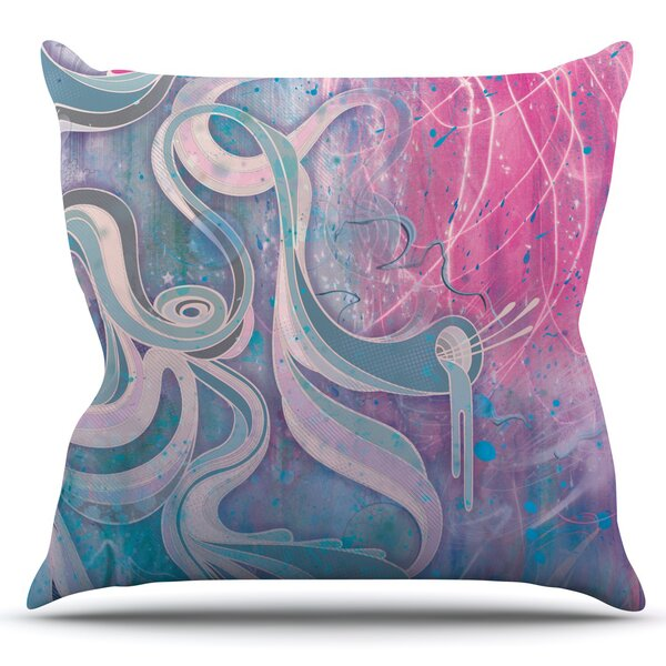 Electric Dreams by Mat Miller Outdoor Throw Pillow by East Urban Home