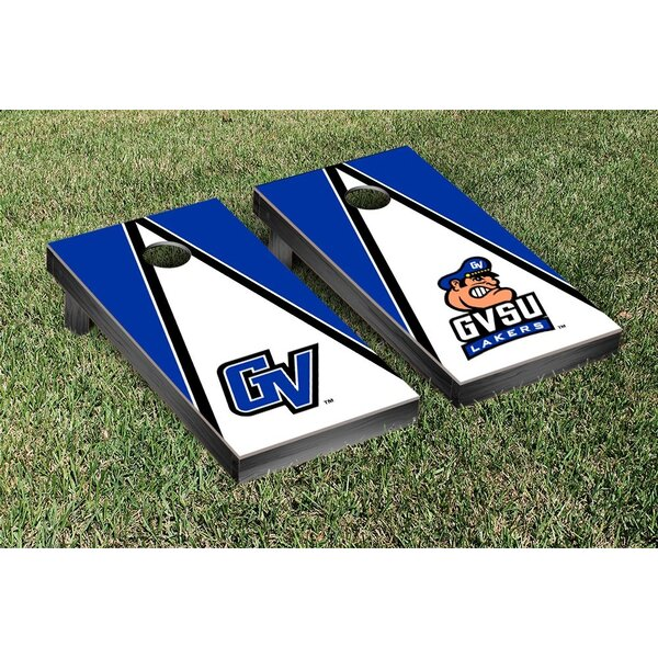 NCAA Alternating Triangle Wooden Cornhole Game Set by Victory Tailgate