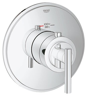 GrohFlex Timeless Custom High Flow Shower Thermostatic Trim with Control Module by Grohe