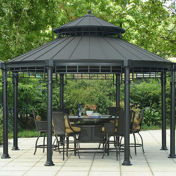 Buffalo 14.5 Ft. W x 14.5 Ft. D Metal Patio Gazebo by Sunjoy