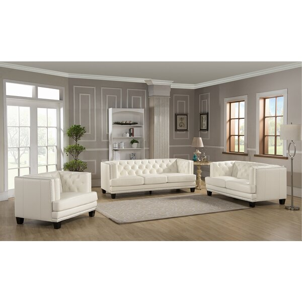 Looking for Crewellwalk 3 Piece Leather Living Room Set By Rosdorf Park Best Choices