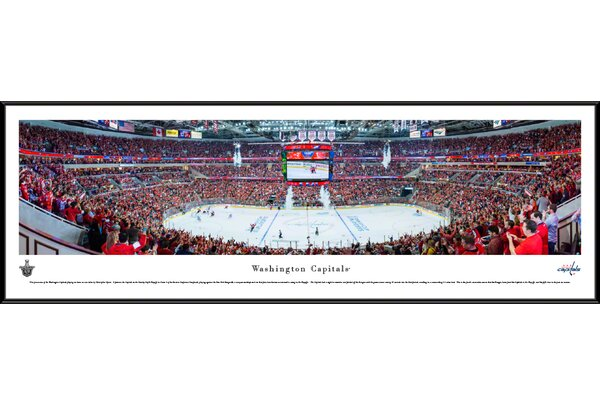NHL Washington Capitals - Center Ice by Christopher Gjevre Framed Photographic Print by Blakeway Worldwide Panoramas, Inc