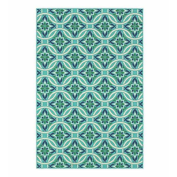 Lexington Green/Blue Indoor/Outdoor Area Rug by Plow & Hearth