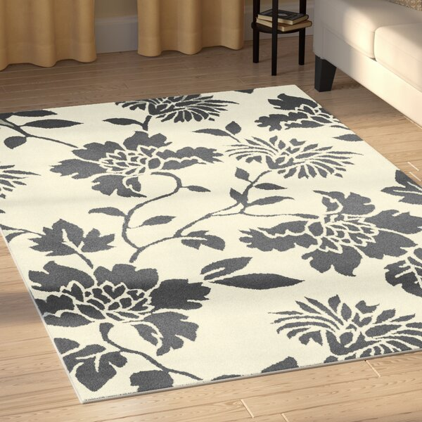 Irondale Contemporary Gray/Ivory Indoor/Outdoor Area Rug by Charlton Home