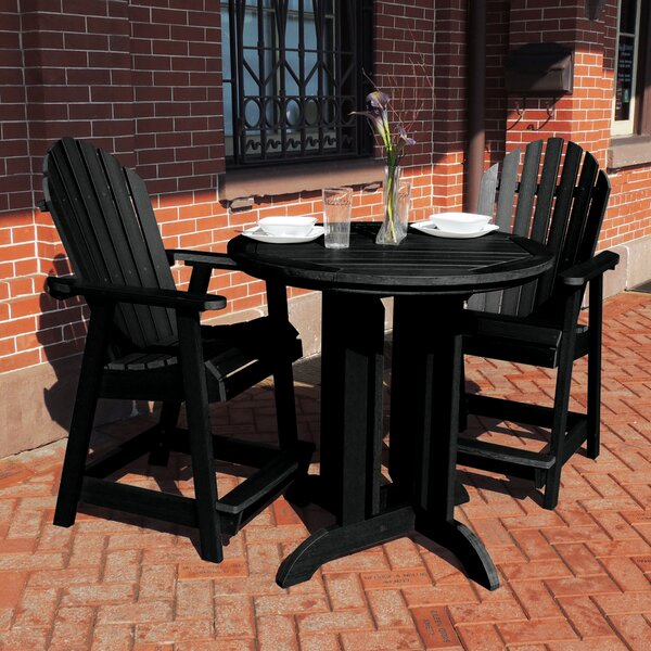 Gretchen Commercial Grade Adirondack 3 Piece Bistro Set by Rosecliff Heights