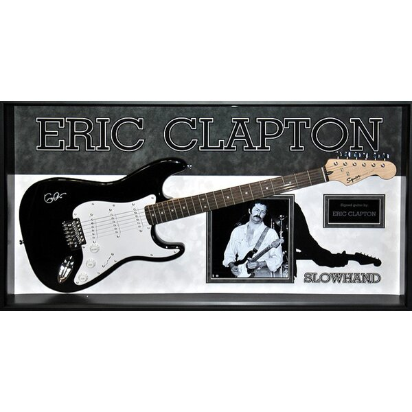 Eric Clapton Custom Framed Autographed Guitar by Brayden Studio