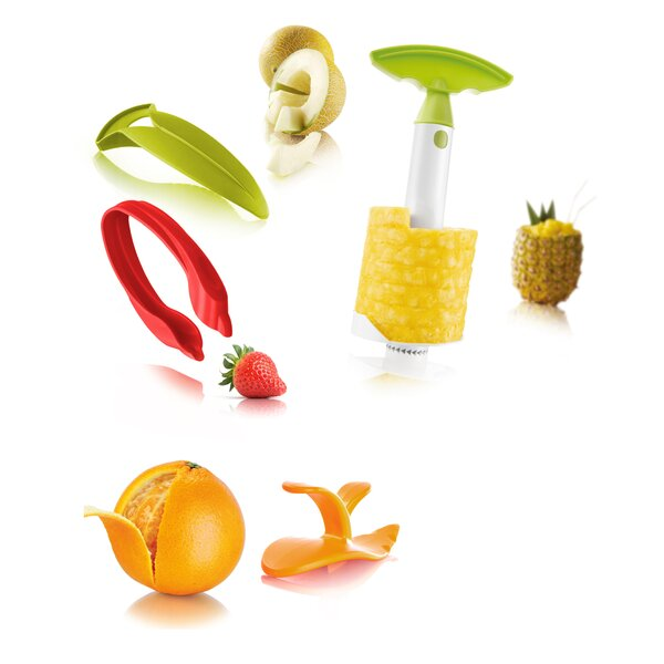 4 Piece Fruit Peeler and Slicer Set by Tomorrows Kitchen