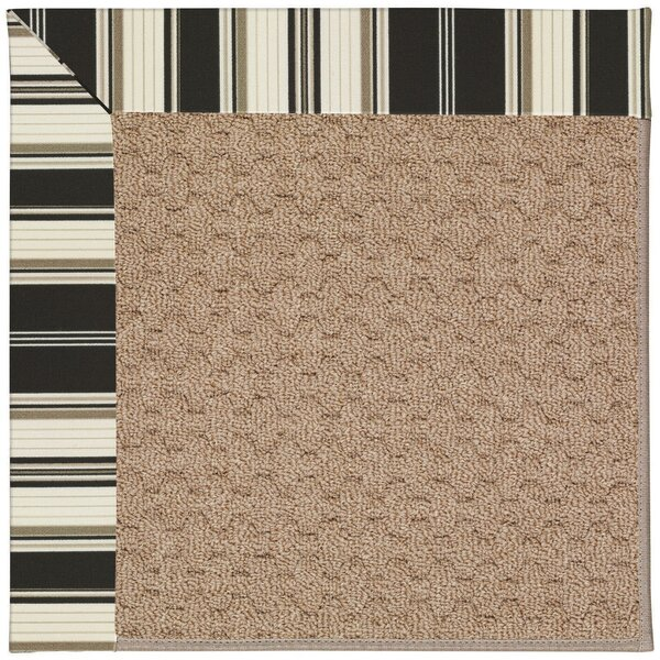 Lisle Machine Tufted Onyx/Brown Indoor/Outdoor Area Rug by Longshore Tides