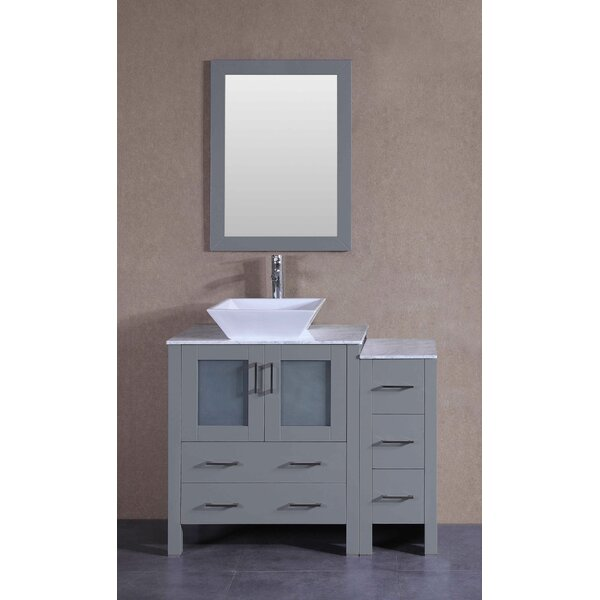 Daytona 42 Single Bathroom Vanity Set with Mirror by Bosconi