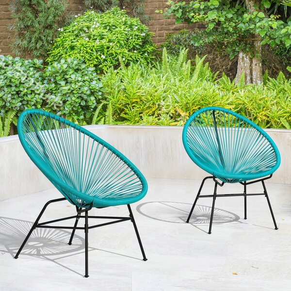 Cedeno Patio Dining Chair (Set of 2) by Bay Isle Home