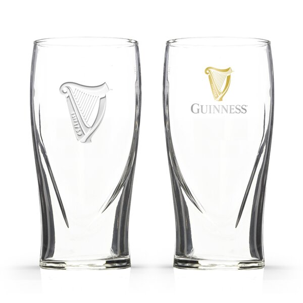 Guinness Single Gravity 20 oz. Pint Glasses (Set of 2) by PB