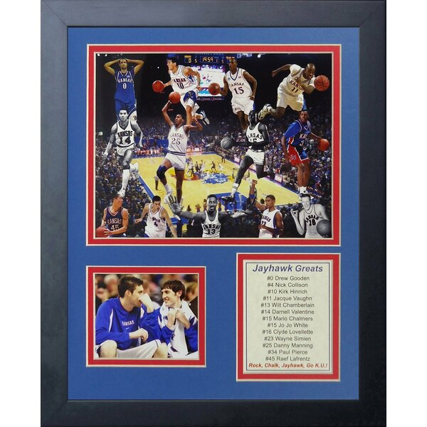 University of Kansas - Jayhawks Greats Framed Memorabilia by Legends Never Die