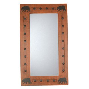 Find Bears Wild Rustic Accent Mirror ByMy Amigos Imports