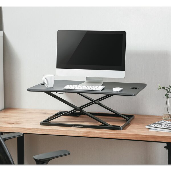 Bayshore Ultra-Slim Height Adjustable Standing Desk by Symple Stuff