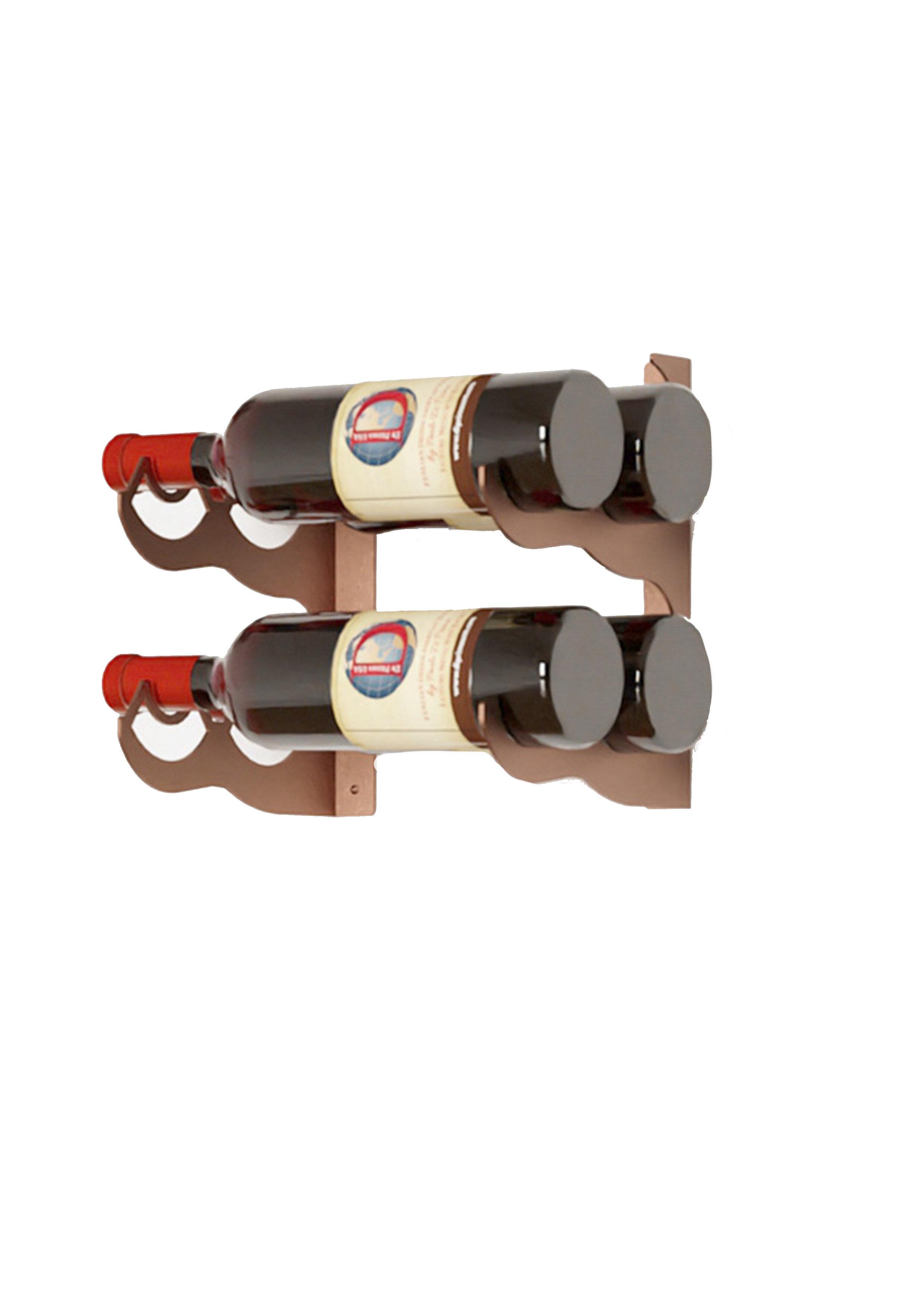 Ebern Designs Dundridge 4 Bottle Wall Mounted Wine Bottle Rack In Corten Wayfair