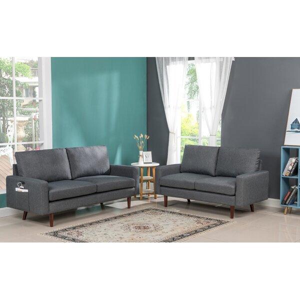 Bulverde Modern 2 Piece Standard Living Room Set By George Oliver