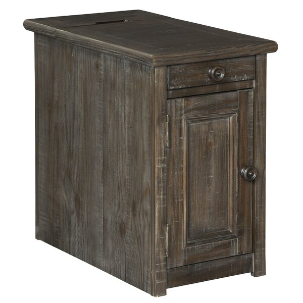 Home & Garden Kulben Drum End Table With Storage