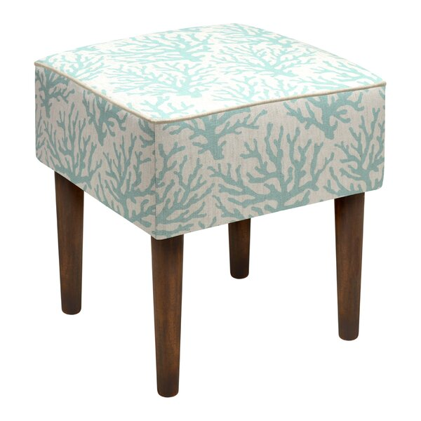 Linen Upholstered Modern Vanity Stool by 123 Creations
