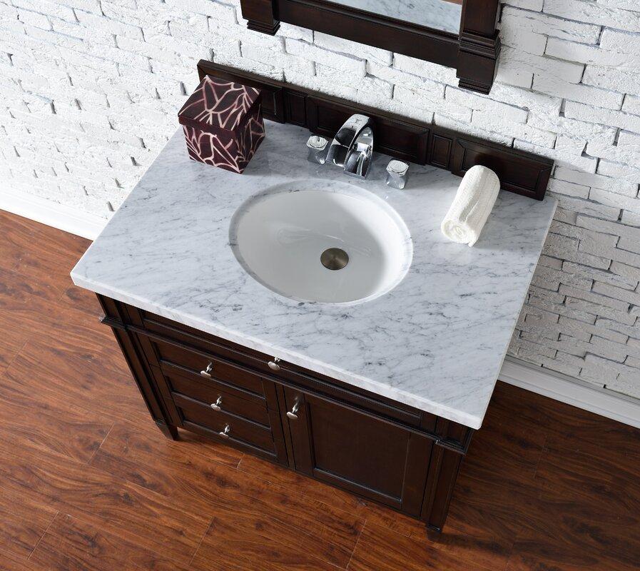 36 Bathroom Vanity Cabinet Ceramic Top Sink Faucet CM1 Niersi With Regard  To In Prepare 13