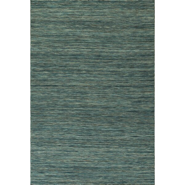 Junien Hand Woven Wool Turquoise Area Rug by Gracie Oaks