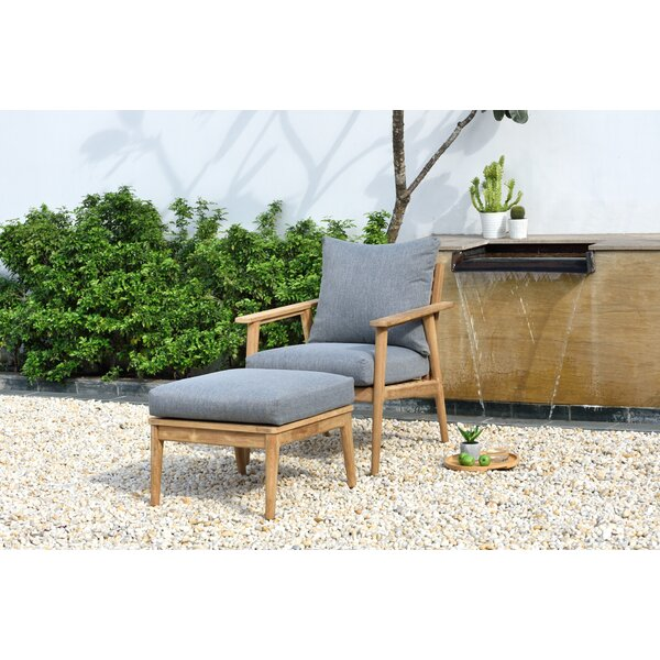 Darrah 2 Piece Teak Seating Group with Cushions by Brayden Studio