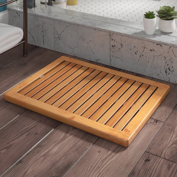 Almonte Bamboo Floor & Shower Mat Bath Rugs by Langley Street