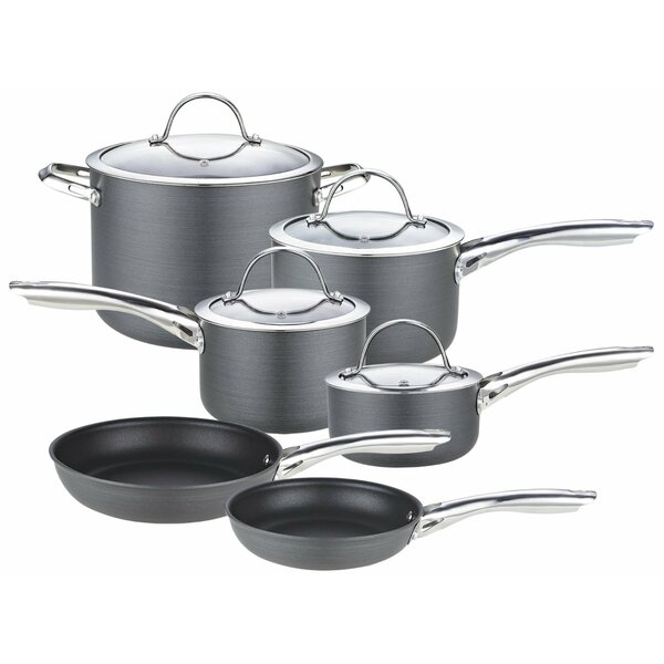 Hard Anodized 10-Piece Cookware Set by Cooks Standard