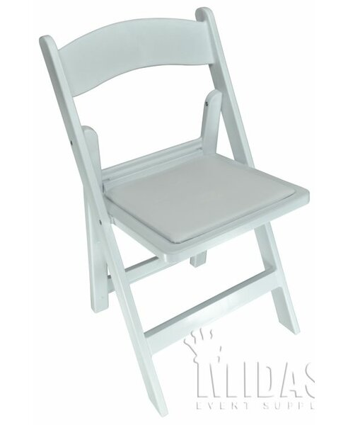 Revolution Plastic Padded Folding Chair by Midas Event Supply