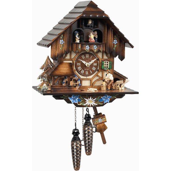 Weight-Driven Forest Cuckoo Wall Clock by Loon Peak
