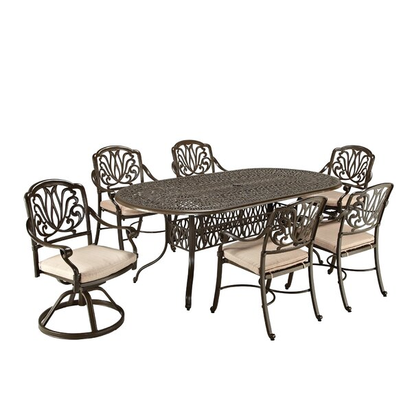 Lular 7 Piece Dining Set with Cushions by One Allium Way