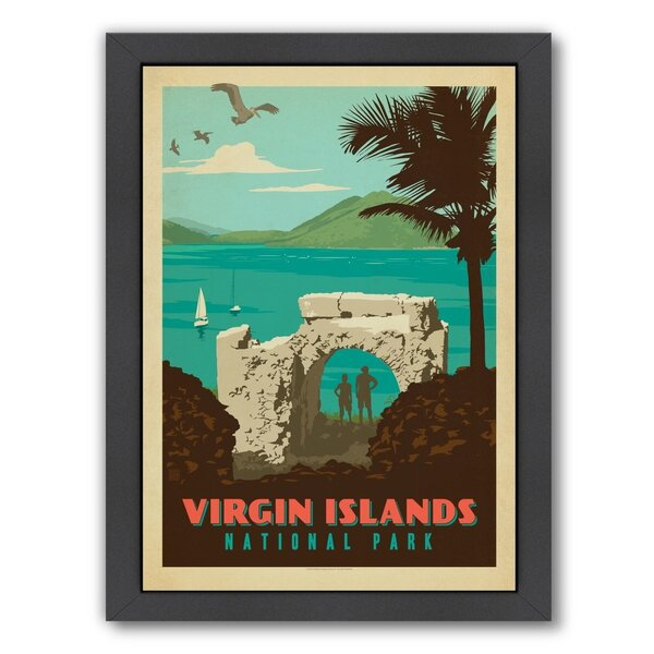 Virgin Islands National Park Framed Vintage Advertisement by East Urban Home