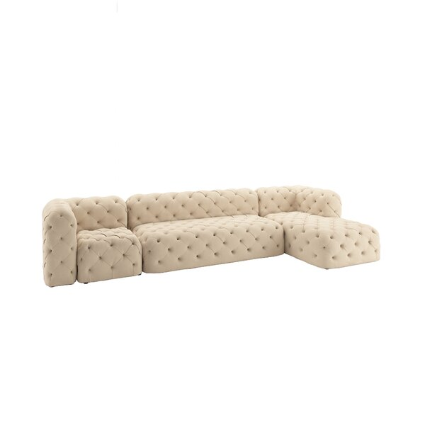 Laussat Modular Right Hand Facing Sectional By Charlton Home