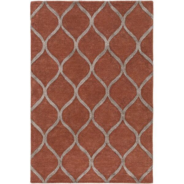 Bronaugh Hand-Tufted Clay/Taupe Area Rug by Greyleigh