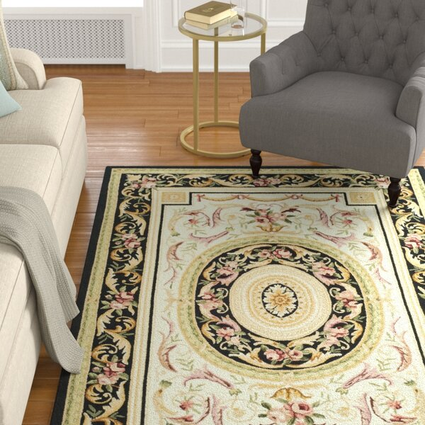 Weaver Ivory / Black Area Rug by Astoria Grand