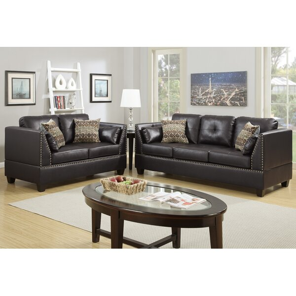 Bobkona Zenda 2 Piece Living Room Set by Poundex