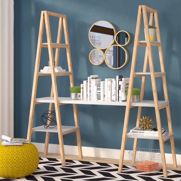 Buenrostro Triangle Desk Ladder Bookcase by Mercury Row