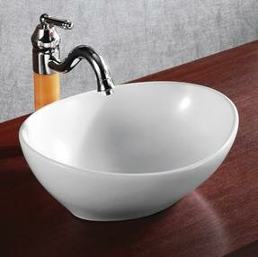 Reviews Ceramic Oval Vessel Bathroom Sink By Elanti